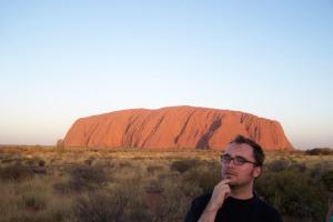 Der Uluru (Gute Freunde nennen ihn Ulli) und ich.