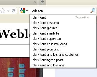 Clark Kent googelt seinen Namen