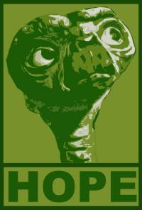 E.T. in grün